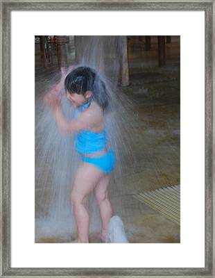 Framed Print featuring the photograph Having Fun by Ramona Whiteaker