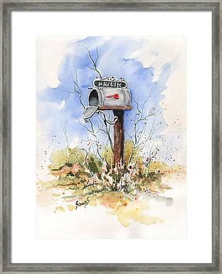 Havlik's Mailbox Framed Print