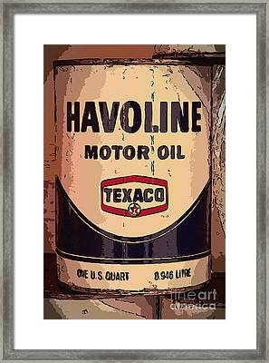Havoline Motor Oil Can Framed Print