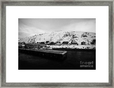 Havoysund Hurtigruten Pier Finnmark Norway Europe Framed Print