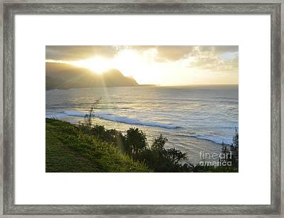 Hawaii - Bali Hai Sunset Framed Print by Greg Cross