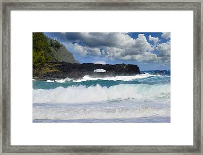 Hawaii Coastline Framed Print