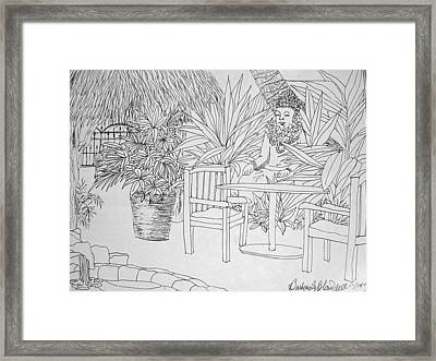 Hawaii Coloring Page Framed Print