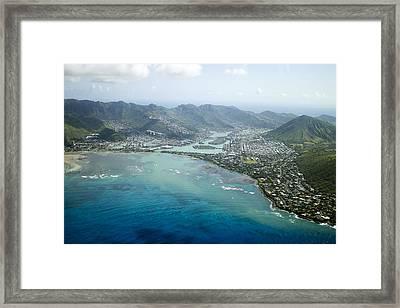 Hawaii Kai Aerial Framed Print
