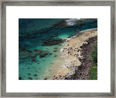 Hawaii, Kauai, Haena State Park, A View Framed Print by Christopher Talbot Frank