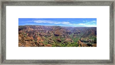 Hawaii Kauai Waimea Canyon Beautiful Panorama Framed Print