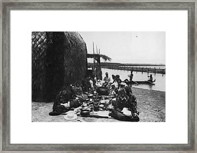 Hawaii Luau, C1885 Framed Print by Granger