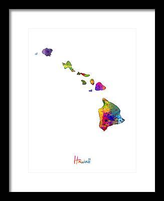 Oahu Digital Art Framed Prints