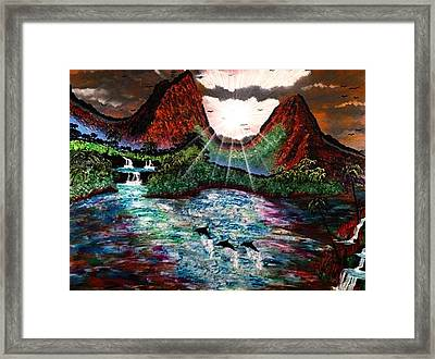 Framed Print featuring the painting Hawaii  by Michael Rucker