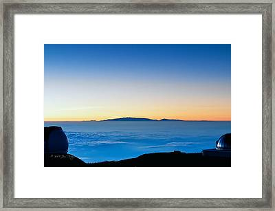 Framed Print featuring the photograph Hawaii Sunset by Jim Thompson