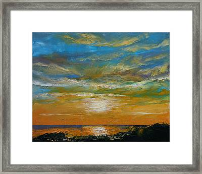 Hawaii Sunset Framed Print by Michael Creese