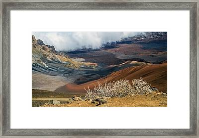 Hawaii Volcano Landscape Framed Print by Pierre Leclerc Photography