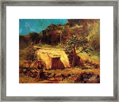 Hawaiian And His Home Framed Print by Pg Reproductions
