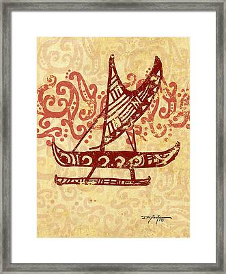Hawaiian Canoe Framed Print by William Depaula