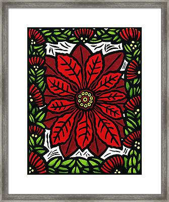 Hawaiian Christmas Joy Framed Print by Lisa Greig