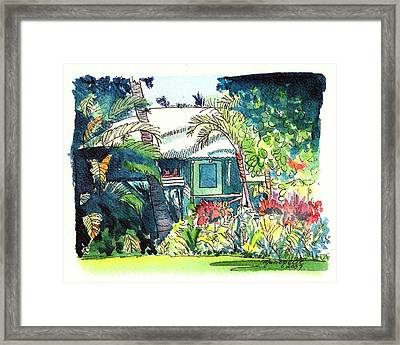 Framed Print featuring the painting Hawaiian Cottage 3 by Marionette Taboniar
