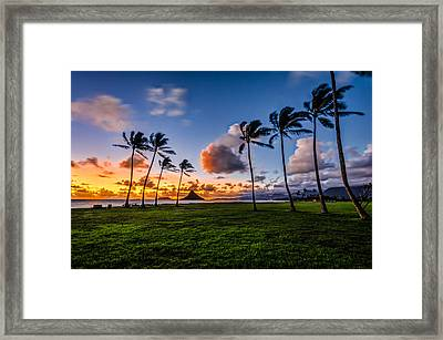 Framed Print featuring the pyrography Chainaman Hat Hawaii by RC Pics