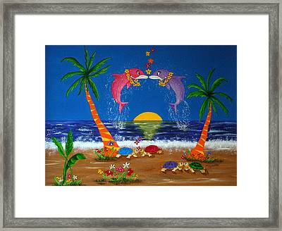 Hawaiian Island Love Framed Print by Pamela Allegretto