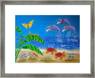 Hawaiian Lei Day Framed Print by Pamela Allegretto