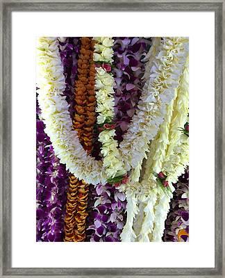 Hawaiian Leis Framed Print