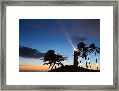 Hawaiian Lighthouse Framed Print by Greg Simmons