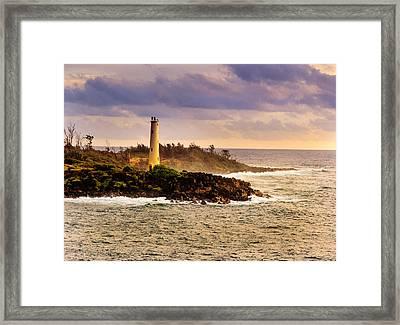 Hawaiian Lighthouse Framed Print