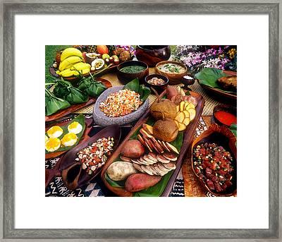 Hawaiian Luau Framed Print by Douglas Peebles