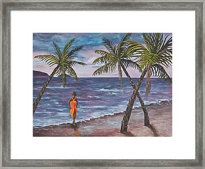 Hawaiian Maiden Framed Print by Darice Machel McGuire