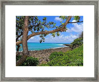 Framed Print featuring the photograph Hawaiian Paradise by Kristine Merc