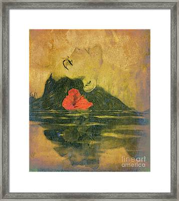 Hawaiian Reflection Wahine Kai Framed Print by Laura  Gundy