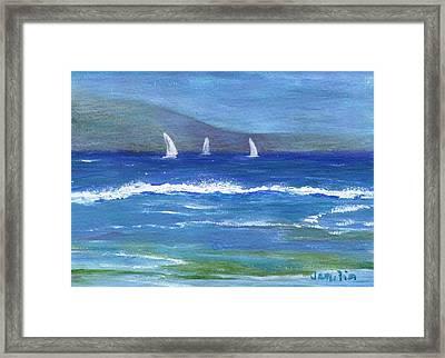 Hawaiian Sail Framed Print by Jamie Frier