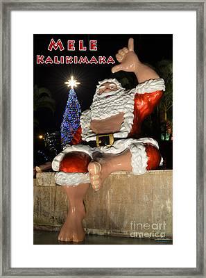 Hawaiian Santa Framed Print