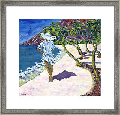 Hawaiian Stroll Framed Print
