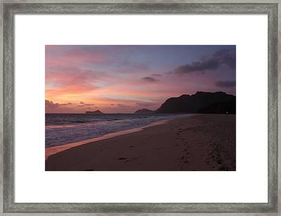 Hawaiian Sunrise Framed Print by Adam Levine