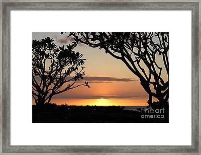 Hawaiian Sunset All Profit Go To Hospice Of The Calumet Area Framed Print
