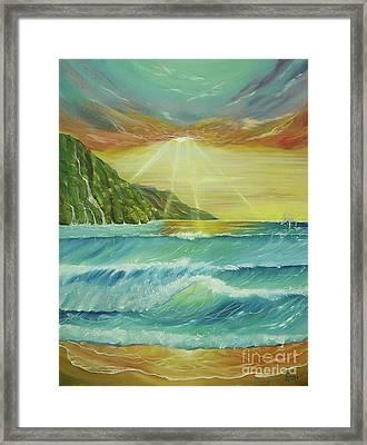 Hawaiian Sunset Framed Print by Gigi  Cook