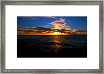 Hawaiian Sunset Framed Print by Kara  Stewart