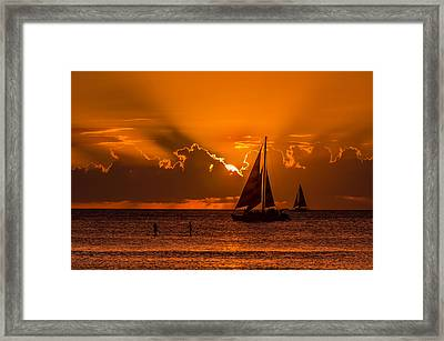 Hawaiian Sunset Framed Print by RC Pics
