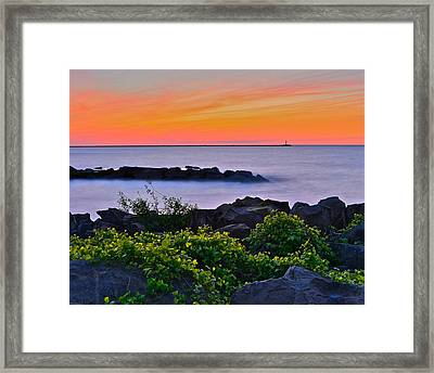 Hawaiian Sunset Framed Print by Frozen in Time Fine Art Photography