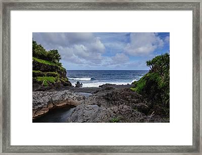 Hawaiian Surf Framed Print