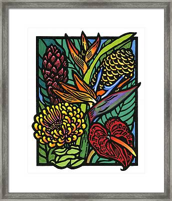 Hawaiian Tropical Flowers Framed Print by Lisa Greig