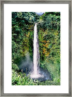 Hawaiian Waterfall Framed Print