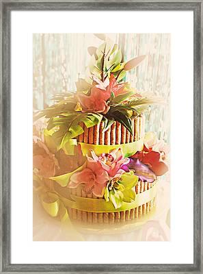 Hawaiian Wedding Cake Framed Print by Susan Bordelon