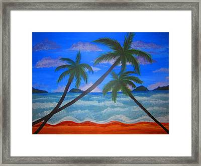 Hawaiin Beach Framed Print by Haleema Nuredeen