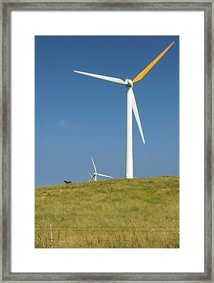 Framed Print featuring the photograph Hawi Wind Farm  by Scott Rackers