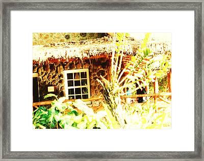 Hawii Hut Framed Print by Joan Shortridge