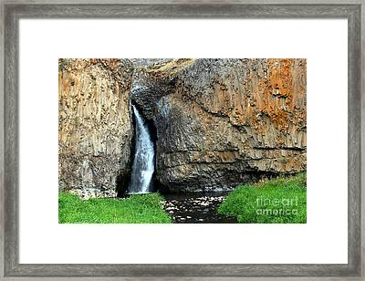 Hawk Creek Falls Framed Print