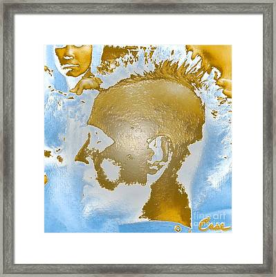 Hawk Cut Case - Self Portrait 12 2011 Gp2 Framed Print by Feile Case