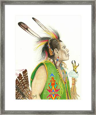 Hawk Foot Framed Print by Lew Davis