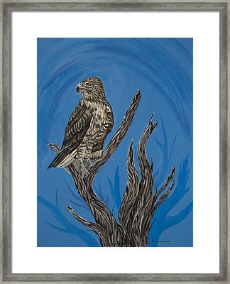 Hawk Totem Framed Print